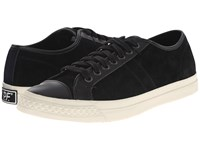 Pf Flyers Rambler Lo Black Suede Leather Men's Lace Up Casual Shoes