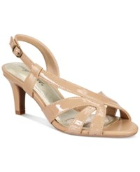 Easy Street Shoes Desi Dress Sandals Women's Nude Patent