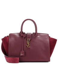 Saint Laurent Monogram Downtown Small Leather Tote Red