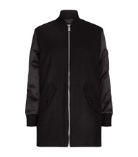 Maje Gandi Bomber Coat Female Black