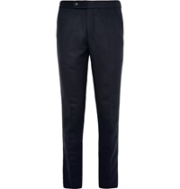 Tomorrowland Slim Fit Double Faced Wool Trousers Blue