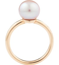 Noa Fine Jewellery Perla Midi 18Ct Gold And Pearl Ring Violet On Rose