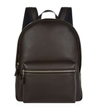Dunhill Smooth Leather Backpack Unisex Black