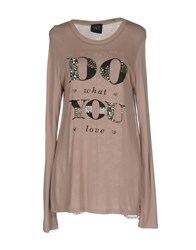 Twin Set Jeans T Shirts Light Brown