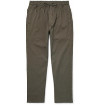 Ymc Alva Stretch Cotton Twill Drawstring Trousers Green