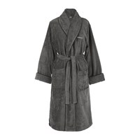 Gant Premium Velour Bathrobe Anthracite Grey
