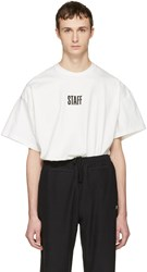 Vetements White Hanes Edition Quick Made Oversized Staff T Shirt