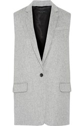 Rag And Bone Frankie Brushed Wool Blend Gilet
