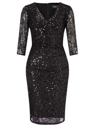 Ariella Teresa Short Sequin Cocktail Dress Black