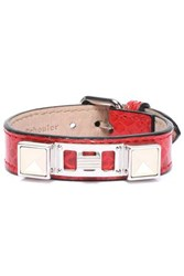 Proenza Schouler Python Silver And Gold Tone Bracelet Red