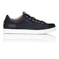Gianvito Rossi Men's David Low Top Sneakers Black White Blue Black White Blue