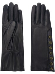 Agnelle Gloves With Contrast Poppers Blue