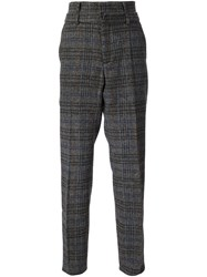 Y Project Plaid Trousers Black