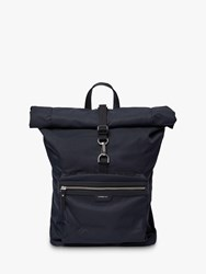 Sandqvist Siv Recycled Roll Top Backpack Black