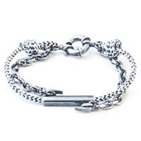 Anchor And Crew Belfast Rope Silver Bracelet