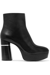 3.1 Phillip Lim Ziggy Leather Ankle Boots Black