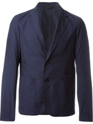 Jil Sander Two Button Blazer Blue
