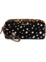 Miu Miu Faille Patchwork Case Black