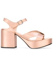 Jil Sander Metallic Sandals Nude Neutrals
