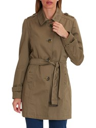Betty Barclay Belted Trench Coat Lead Gray