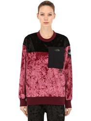 The North Face City Velvet Crewneck Pullover Red