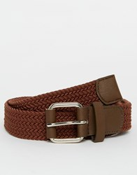 Racing Green Plaited Belt Tan