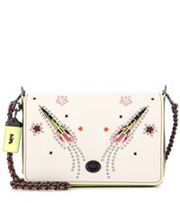 Coach Embellished Shoulder Bag White