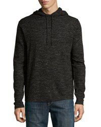 Neiman Marcus Drawstring Hooded Pullover Sweater Sooty