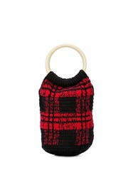 Rachel Comey Praia Knitted Bucket Bag Red