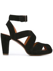 Chie Mihara Ghanaante Sandals Women Calf Leather Leather Suede 37 Black