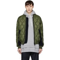 Tim Coppens Green Quilted Ma 1 Bomber