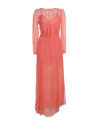 Alex Vidal Long Dresses Salmon Pink