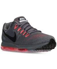 Nike Men's Zoom All Out Low Running Sneakers From Finish Line Dark Grey Black Bright Cr