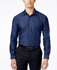 Inc International Concepts Blake Long Sleeve Non Iron Shirt Only At Macy's Navy