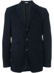 Massimo Alba Three Button Blazer Blue