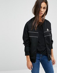 Le Coq Sportif Bomber Jacket With Piping Black