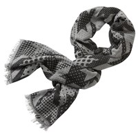 Betty And Co. Long Graphic Weave Scarf Black Cream