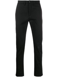 Department 5 Tailored Straight Leg Trousers Black