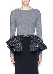 Dries Van Noten 'Sinti' Geometric Lurex Dot Jacquard Peplum Belt Black Metallic