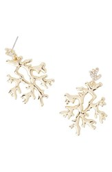 Lilly Pulitzerr Women's Pulitzer Coral Reef Earrings Gold Metallic