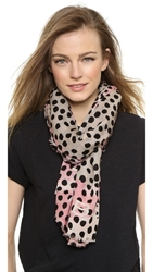 Marc By Marc Jacobs De Lite Dot Scarf Cheek Pink Multi