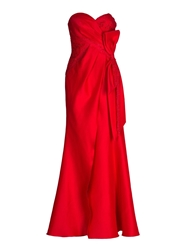 Aftershock Tapana Red Strapless Evening Gown