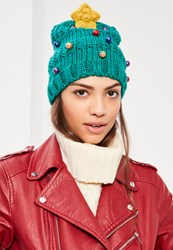 Missguided Christmas Tree Hat Green