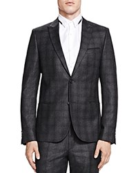 The Kooples Melted Checks Wool Slim Fit Sport Coat Gray