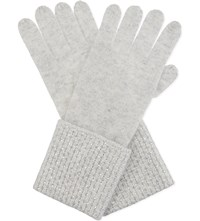 William Sharp Swarovski Cuff Cashmere Gloves Silverhaze