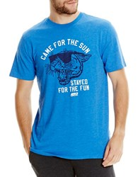 Bench Came For The Sun Graphic Printed Tee Lapis Blue