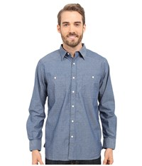 Mountain Khakis Ace Indigo Long Sleeve Shirt Polkadobby Men's Clothing Blue