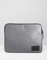 Asos Ipad Case With Contrast Zip Charcoal Grey