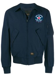 Deus Ex Machina Flight Bomber Jacket Blue