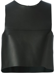 Fendi Leather Tank Top Black